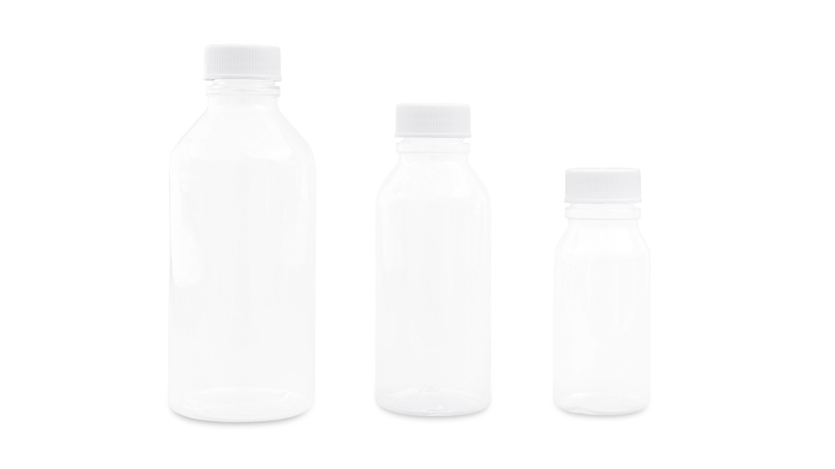 Clear, Round Plastic Bottles (PVC)