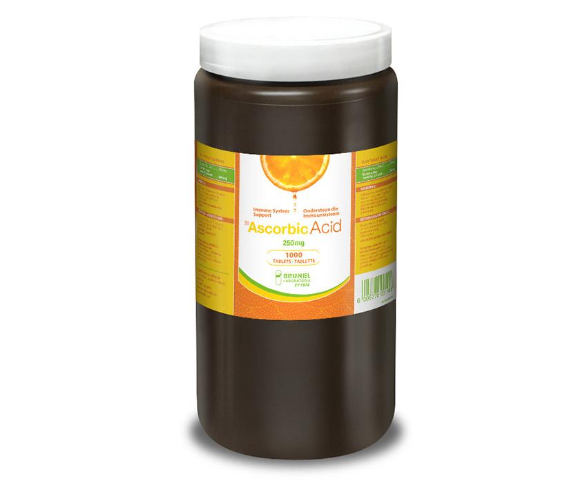Ascorbic Acid Tablets 250 mg (Pink) - 1000