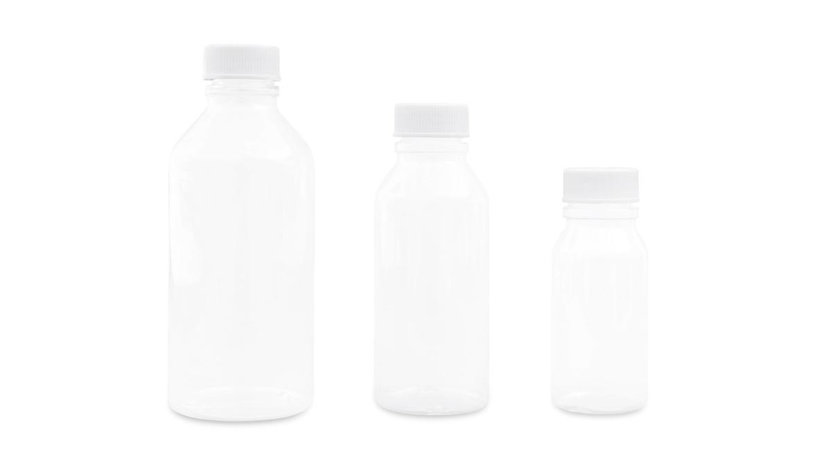 Clear, Round Plastic Bottles (PVC)